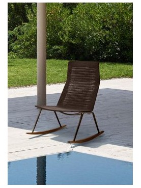 Zebra Knit Rocking lounge armchair