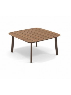 Shine Coffee Table with Teak Top