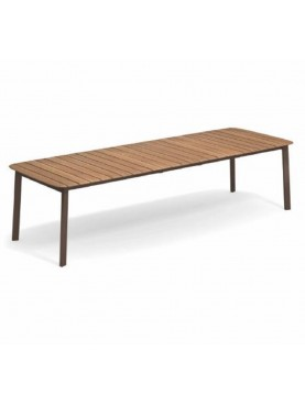 Shine Extendable Table with Teak Top